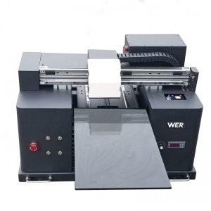 2018 UV led flatbed yazıcı satış WER-E1080T a4 dtg t shirt logo baskı makinesi