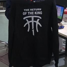 Siyah tişört baskı örneği A2 tişörtlü yazıcı WER-D4880T