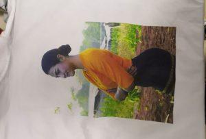 WER-EP6090T yazıcıdan Burma istemcisi için t shirt baskı örneği